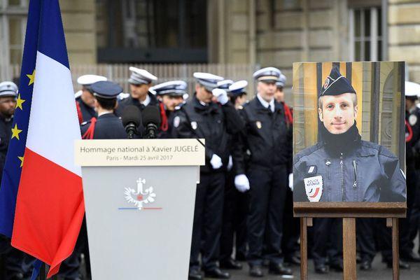 Cérémonie d'hommage de Xavier Jugelé
