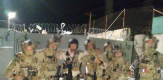 Policiers du RAID et des forces spéciales lors de l'évacuation de l'ambassade vers l'aéroport de Kaboul - Poto Facebook Police Nationale